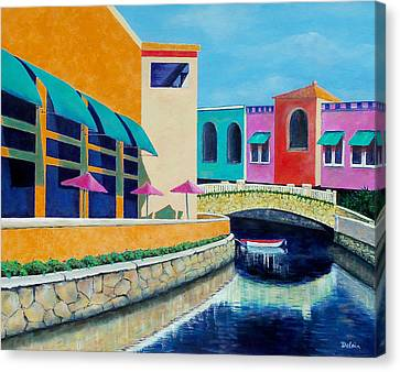 Canvas Print featuring the painting Colorful Cancun by Susan DeLain