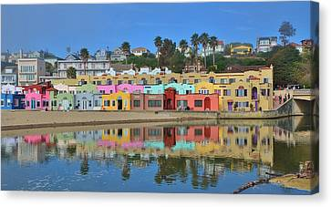 Colorful Capitola Venetian Hotel Canvas Print