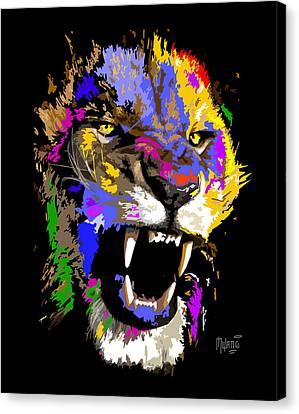 Green Canvas Print - Cat Snarl by Anthony Mwangi