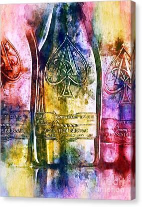 Colorful Champagne Canvas Print