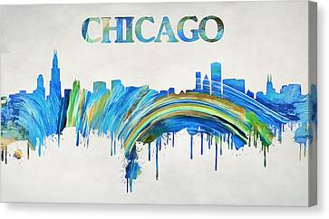 Colorful Chicago Skyline Canvas Print by Dan Sproul