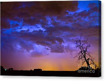 Colorful Cloud To Cloud Lightning Canvas Print by James BO  Insogna