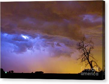 The Lightning Man Canvas Print - Colorful Cloud To Cloud Lightning Stormy Sky by James BO  Insogna