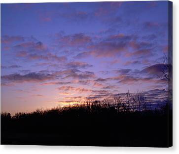 Canvas Print featuring the photograph Colorful Clouds In The Sky by Kent Lorentzen