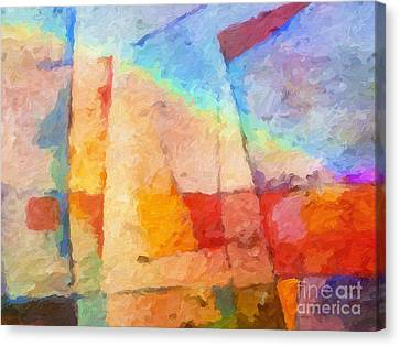 Colorful Coast Canvas Print by Lutz Baar