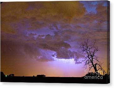 Colorful Colorado Cloud To Cloud Lightning Thunderstorm 27 Canvas Print by James BO  Insogna