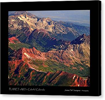 Colorful Colorado Rocky Mountains Planet Art Poster  Canvas Print by James BO  Insogna