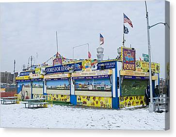 Colorful Coney Island Stand Canvas Print by Andrew Kazmierski