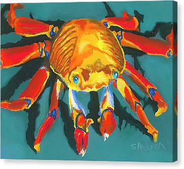 Colorful Crab II Canvas Print by Stephen Anderson