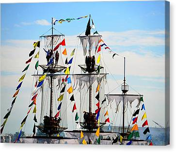 Colorful Crows Nest Canvas Print by David Lee Thompson