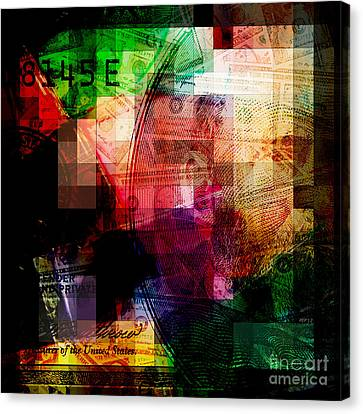 Canvas Print featuring the photograph Colorful Currency Collage by Phil Perkins