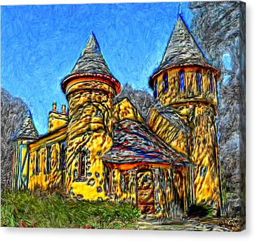 Colorful Curwood Castle Canvas Print