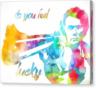 Harry Callahan Canvas Print - Colorful Dirty Harry by Dan Sproul