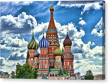 Colorful Domes Canvas Print by Pravine Chester