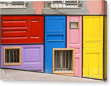 Colorful Doors Canvas Print by Bob Phillips