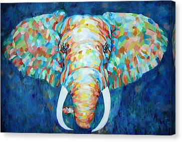 Colorful Elephant Canvas Print by Enzie Shahmiri