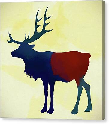Colorful Elk Canvas Print by Dan Sproul