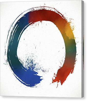 The Universe Canvas Print - Colorful Enso by Dan Sproul