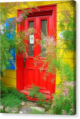 Colorful Entrance ... Canvas Print by Juergen Weiss