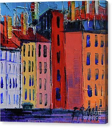 Colorful Facades Canvas Print by Mona Edulesco