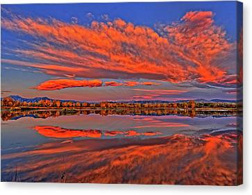 Canvas Print featuring the photograph Colorful Fall Morning by Scott Mahon