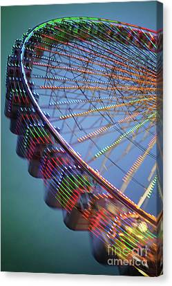 Colorful Ferris Wheel Canvas Print by Carlos Caetano