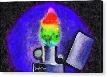 Colorful Fire Canvas Print by Leonardo Digenio