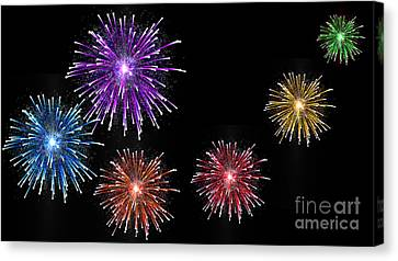 Colorful Fireworks Display Canvas Print