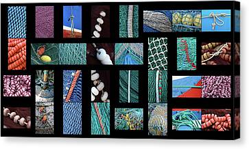 Canvas Print featuring the photograph Colorful Fishing Nets by Frank Tschakert