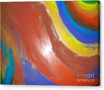 Colorful Flame Canvas Print
