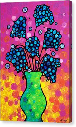 Colorful Flower Bouquet By Sharon Cummings Canvas Print by Sharon Cummings