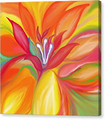 Rainbow Canvas Print - Colorful Flower by Art Spectrum