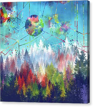Colorful Forest 4 Canvas Print by Bekim Art