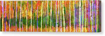 Colorful Forest Abstract Canvas Print