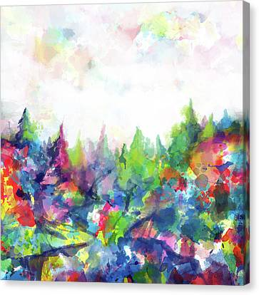 Colorful Forest Canvas Print by Bekim Art