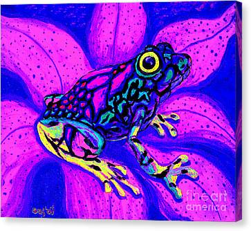 Colorful Frog 2 Canvas Print by Nick Gustafson