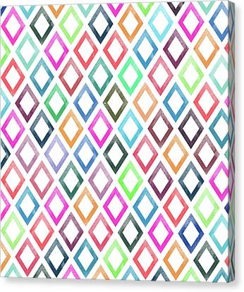 Colorful Geometric Patterns  Canvas Print by Amir Faysal