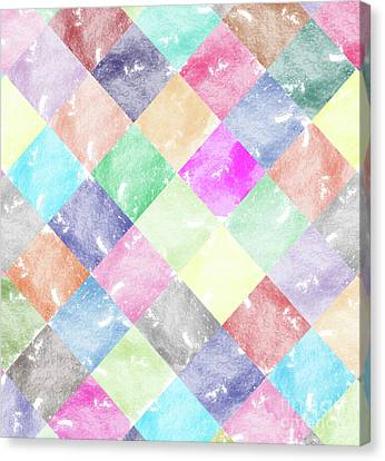 Colorful Geometric Patterns IIi Canvas Print by Amir Faysal