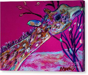 Colorful Giraffe Canvas Print