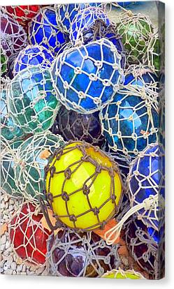 Colorful Glass Balls Canvas Print
