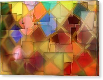 Colorful Glass Cubes Canvas Print