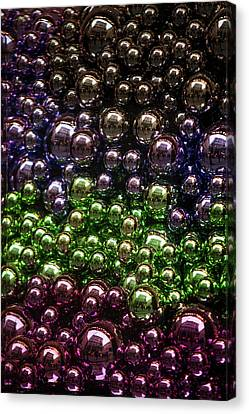Decorated For Christmas Canvas Print - Colorful Glittering Christmas Balls by Jenny Rainbow