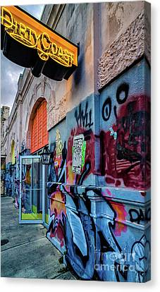 Canvas Print - Colorful Graffiti And Dirty Coast Sign-nola by Kathleen K Parker