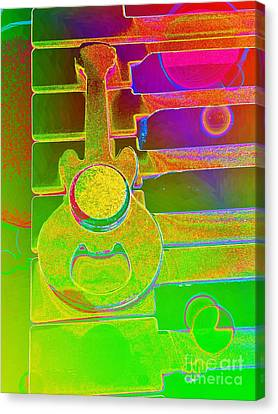 Colorful Guitar And Piano 1 By Jasna Gopic Canvas Print