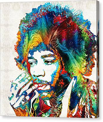 Colorful Haze - Jimi Hendrix Tribute Canvas Print