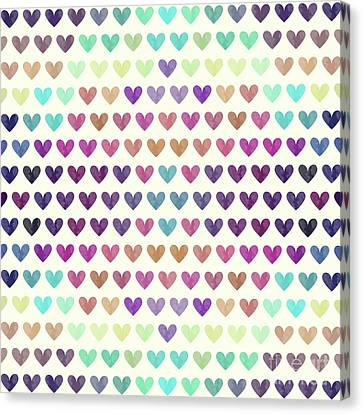 Colorful Hearts IIi Canvas Print by Amir Faysal
