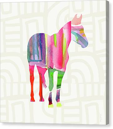 Colorful Horse 2- Art By Linda Woods Canvas Print by Linda Woods
