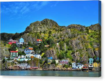 Colorful Houses In Newfoundland Canvas Print by Steve Hurt