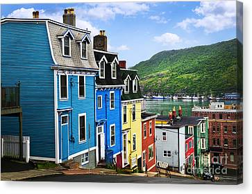 Colorful Houses In St. John's Canvas Print