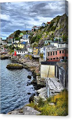 Colorful Houses Canvas Print by Steve Hurt